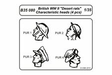 CMK B35080 1/35 British WWII Desert rats character heads 4pcs