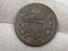 """Better Date 1868 2¢ Cent Piece w/ """"WE"""" Visible. #8"""