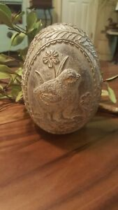 Vintage Easter Candy Mold Figurine Baby Chick Floral Farmhouse Decor
