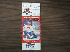 Florida Panthers Ticket Stubs From Feb 22 1995 vs Montreal Canadiens 2/23/95 Roy