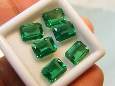 11.0cts Lab created synthetic Nano emerald MEDIUM EMERALD cutting OCTAGON 8x6 mm