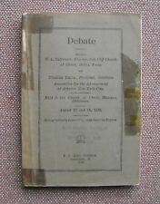 W. L. Oliphant - Charles Smith Debate 1929 ~ Church of Christ & Atheist ~ RARE !