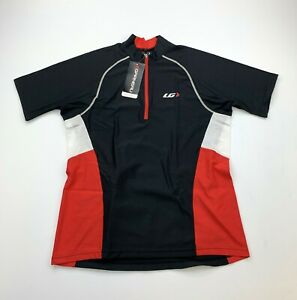 Louis Garneau Maillot Grand Tour Men's Small Black / Red Cycling Jersey New