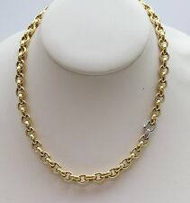 Lady's 18 Karat Yellow and White Gold Necklace by Isabelle Fa