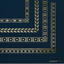 Decorative Borders #1 Large: Stencil Template: Scrapbooking, Airbrushing: ST49A4