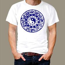 Zodiac T-Shirt Yin Yang Chinese Zen Yoga, Hinduism Chakra Thai Deity Zodiac tee