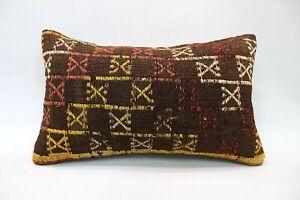 Kilim Pillow, 12x20 in, Decorative Sofa Pillow, Turkish Pillow, Vintage Pillow