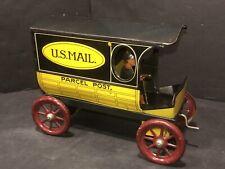 Rare AC Gilbert / Strauss Tin Litho U.S. Mail Parcel Post Wind Up Truck