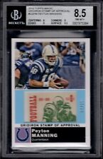 2010 Topps Magic Gridiron Stamp Peyton Manning 4/10 #GS-PM BGS 8.5 SSP FHOF