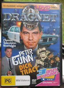 Dragnet / Peter Gunn / Dick Tracy - 3 Discs 10 Episodes - DVD