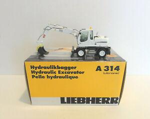 """NZG 498 LIEBHERR A 314 Excavator """"WHITE"""" 1:50 """"NEW"""""""