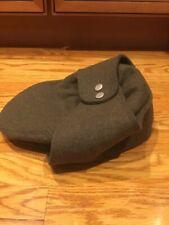 Mens Kangol WOOL Bugatti Ear Flaps Hat Size X-Large EUC Olive Green