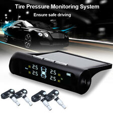 Solar Power Car Auto TPMS Tire Pressure LCD Monitor System Wireless + 4 Sensor