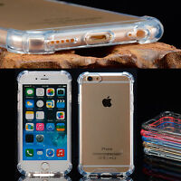 Transparent Clear Hard Back Case Silicone Bumper Cover and Film for iPhone 6S /6