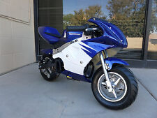 High Performance Honda clone 4 Stroke 40cc Blue/White Pocket Mini Bike In Stock!