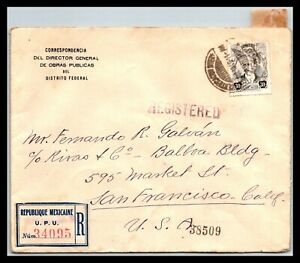 GP GOLDPATH: MEXICO COVER 1919 REGISTERED LETTER _CV747_P04