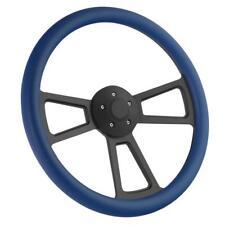 """18"""" Black Billet & Royal Blue Steering Wheel Peterbilt, Kenworth Big Rig Truck"""