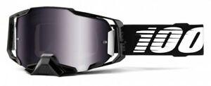 100% Armega Goggle Essential Black - Mirror Lens - Motocross MX Enduro MTB