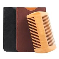 Beard Comb Wooden Double Sided Beard and Moustache Comb by Well Groomed Wizard