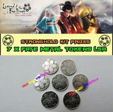LEGEND OF THE FIVE RINGS LCG - 7 X Fate Metal Tokens FFG Promo Stronghold Kit
