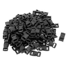 Plastic Webbing Straps Side Quick Release Buckle 10mm 100 Pcs Black X9P4 T4D8