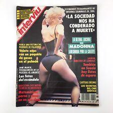 MADONNA DESNUDA POR LA CALLE, LA ULTIMA LOCURA REVISTA INTERVIU 826 ESPAÑA 1992