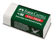 Faber-Castell Pencil ERASER ~ PVC Free With Sleeve ~ MEDIUM ~ School Booklist