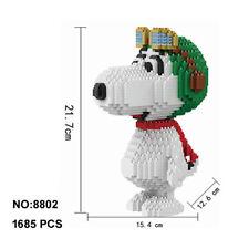 Babu Cartoon Snoopy White Dog Animal Diamond DIY Mini Building Block Toy