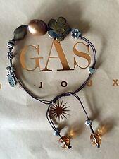 Bracelet Gas Bijoux Perles Nacre Cordon Réglable Siglé Gas
