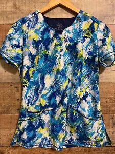 Cherokee Infinity Multicolor  Scrub Top   Size s/ch/p