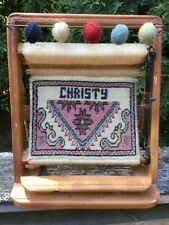 """Vintage Table Top Weaving Loom Display """" Christy"""""""