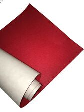 "M01291 MOREZMORE Self Adhesive Felt RED Sticky Back Peel Stick It 9/"" x 12/"""