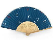 Vintage Japanese 'Sensu' Summer Dragonfly Design Fabric Folding Fan: Nov18J