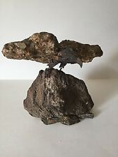 Bird Eagle on Stone Sculpture Signed