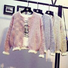 Women's knitting Sweater Pearl Jacket Cardigan Korean Short Spring Autumn New H