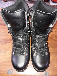 Highlander Elite Forces Boots BLACK Military Waterproof Leather Mens, SIZE 7 UK