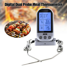 BBQ Smoking Cooking Remote Probe Digital Barbecue Meat Thermometer Alarm Time BG
