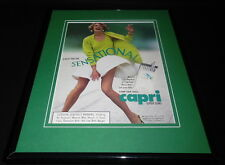 1992 Capri Slims Cigarettes Framed 11x14 ORIGINAL Vintage Advertisement