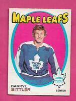 1971-72 OPC # 193 LEAFS DARRYL SITTLER 2ND YEAR GOOD CARD (INV# D0884)