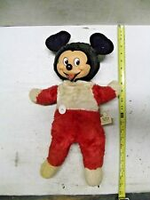 "Vintage Stuffed Plush Rubber Face Gund Mickey Mouse Walt Disney Talking Doll 20"""