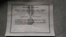 diplome vierge médaille FAFAO