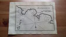 "1817 Allezard: Carta Nautica ""Pl. 42 Barbarie"" Africa Ginieni Monestier Souffe"