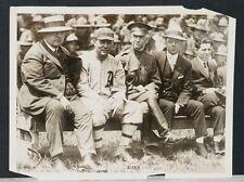 1910's Harry Davis, Philadelphia Athletics, Orig. Type 1 Photo w/WWI Soldiers