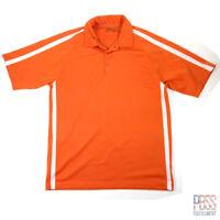 Nike Golf Mens L Short Sleeve Polyester Dri-Fit Polo Shirt Regular Fit Orange