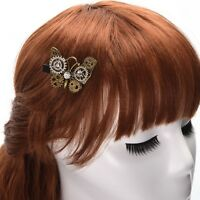 1pc Lolita Lady Gear Butterfly Hair Clip Gothic Steampunk Vintage Punk Headwear