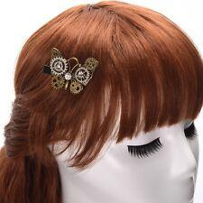 1pc Lolita Lady Gear Butterfly Hair Clip Gothic Steampunk Vintage Punk Headwear
