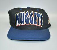 Denver Nuggets Twins Enterprise Bubble Letters Vintage 90s Snapback Cap Hat