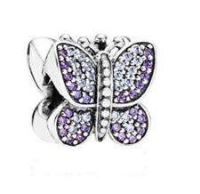 Pandora Charm Sparkling Butterfly, Purple CZ with Gift Box Authentic 791257ACZ