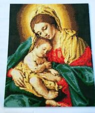 "Assembled 5D Diamond Puzzle Painting Art Virgin Mary baby Jesus Christmas 12""x15"