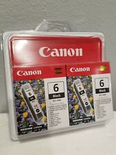 New Canon BCI-6BK Twin Pack Black Ink Cartridges 2x Printer Pixma  toner
